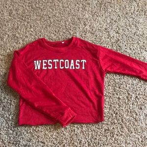 Cropped west coast crew neck